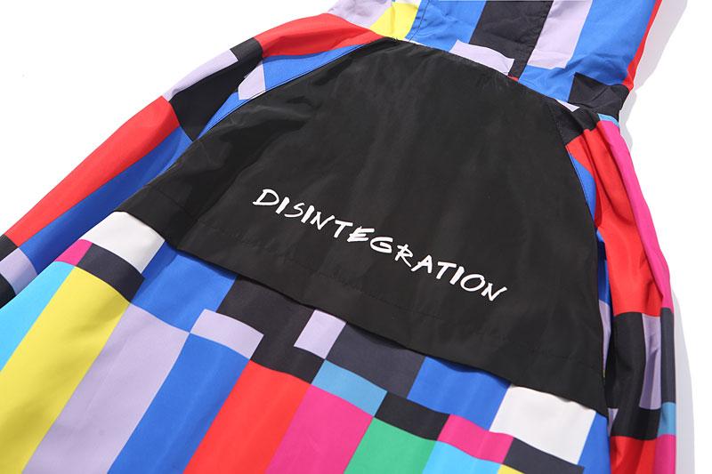 Multi Color Block Patchwork Hooded Zip Up Jacket 6