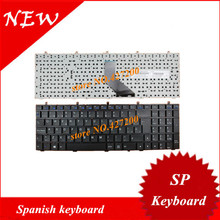 Spanish Keyboard for Clevo W350 W370 W670 W350ETQ W350SKQ W350STQ Laptop SP keyboard without frame