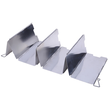 Strong Durable 9 Plates Foldable  Windshield Outdoor Camping Cooking BBQ Gas Stove Aluminium alloy Wind Shield Screens