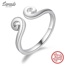 Dorado New Arrival Ethnic Design 925 Sterling Silver Simple Smooth Magic Spells Open Rings Fashion Classic Jewelry