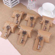 10Pcs/set Bottle Opener+Tags+Box Wedding Favors and Gifts for Guest 2017 New Vintage Wedding Decoration Festive Party Supplies