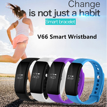 Sporch V66 Smart Wristband OLED Touch Screen Bluetooth 4.0 Sport Pedometer IP67 Deep Waterproof Band for Apple IOS Android(China)