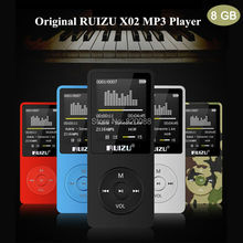 New Latest Ultrathin 8GB MP3 Player with 1.8 Inch Screen can playing 80H, 100%Original RUIZU X02 Plus, Free Shipping
