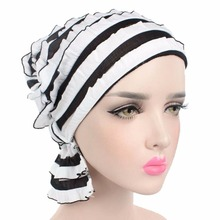 Europe the United States popular scarf hat Muslim pile heap cap chiffon bouquet foliage chemotherapy hats spring summer beanies(China)