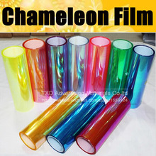 30cmx100cm/Lot Chameleon car headlights taillights lights tint protective chameleon vinyl film stickers changing color