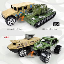 Classic toy!1 :64 camouflage military vehicles glide alloy car toy,4 pieces lot,military enthusiasts Favorites,free shipping(China)