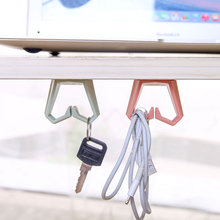 2PCS Plastic Multifunctional Key Towel Rack Hooks Kitchen Cabinet Hanging Storage Hanging Holders Accessories Tool WL(China)