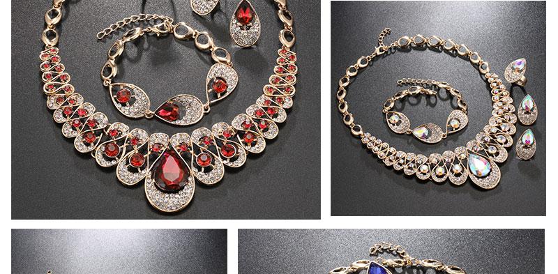 AYAYOO Jewelry Sets Fashion African Costume Jewelry Set Wedding Jewellery Sets For Women Nigerian Beads Necklace Jewelry Set (3)