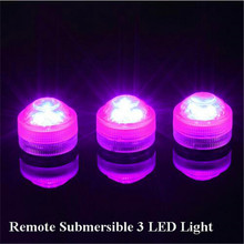 Bright LED Underwater Submersible Waterprof Floral Decoration Tea Light Candle with Remote for Wedding/ Party/ Xmas Decoration