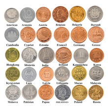 30 Coins Collection Set From Different 30 Countries Fine Coins 100% Original Genuine Coins Collection BTC108(China)