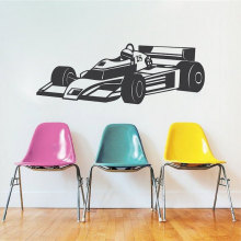 Race Car Wall Decal Racing Vinyl Sticker Kids House Accessories Decoration Living Room Bedroom Removable Wallpaper DIY WW-184(China)