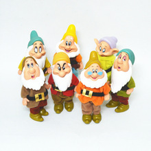 Cartoon Snow White of the 7 Dwarfs Action Figures set NEW Seven dwarfs pvc Cute figures with removable clothes High quality 12cm