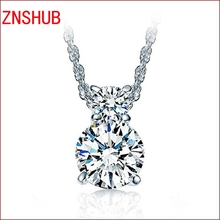 New fashion wild female fine jewelry sterling silver pendants charm double crystal   pendant necklace jewelry wholesale