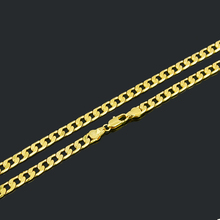 MENS SOLID GOLD FILLED FINISH THICK MIAMI CUBAN LINK NECKLACE CHAIN FREE SHIPPING