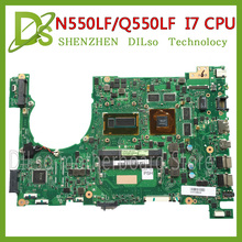 Buy KEFU N550LF motherboard ASUS N550LF Q550LF laptop motherboard N550LF mainboard rev2.1 i7-4500 cpu 100% tested motherboard for $169.00 in AliExpress store