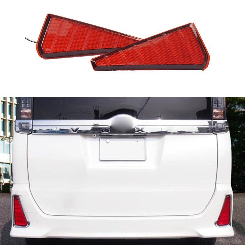 CYAN SOIL BAY Red LED Rear Bumper Rear Light Fog Brake Tail Lamp For Toyota Noah/Voxy 2015<br>