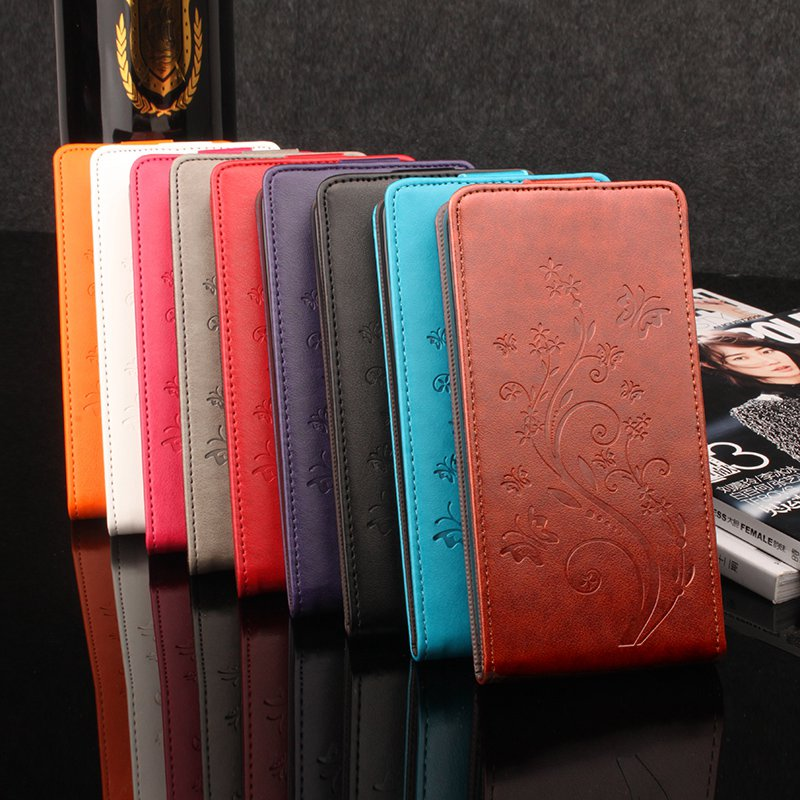 Brand HongBaiwei Lenovo A319 Phone Cases Wallet PU Leather Case Lenovo 319 Skin Phone Case Cover Card Slots