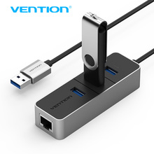 Vention USB 3.0 Hub With 10/100Mbps Network Ethernet Adapter Card 3 ports USB HUB Splitter For Macbook Tablet  smart PC VAS-J44