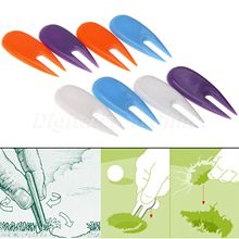 Plastic Golf Ball Divot Toos Golf Pitch Fork (8 pcs) Green Repair Kit Golfer Accessories White Blue Purple Orange