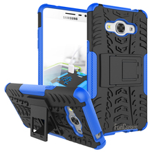 For Samsung Galaxy J3 Pro Case 5.0inch Hybrid Kickstand Dazzle Rugged Rubber Armor Hard PC+TPU 2 In 1 With Stand Function Case