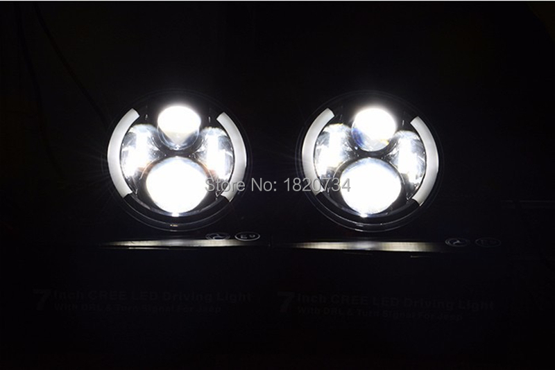 7 inch Round LED Headlight 12