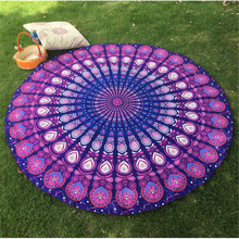 Hot Indian Chiffon Beach Round Towel Beach Pool Home Shower Towel Outdoor Blanket Table Cloth Mat(China)