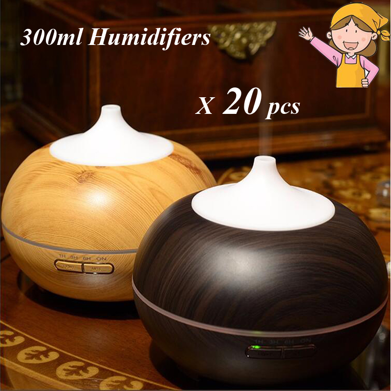 20pcs/lot 300ml Humidifiers Essential Oil Aroma Diffuser Veins Wood Ultrasonic Cool Mist Humidifier for Home Office Bedroom<br><br>Aliexpress