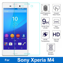 0.26MM 9H Explosion-proof Premium Tempered Glass Film Screen Protector For Sony Xperia M4 Aqua E2303 E2306 E2353 E2363 Dual 5.0