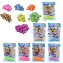 100G Colored Play Sand Can Stack & Build Trim Shape & Sculpt Super Fun Squeezable Sand Never Dries Out Kids Toys