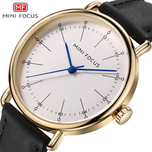 MINI FOCUS Original Watches Men's Top Brand Luxury Men Quartz Watch Leather Clock Men Business Wrist Watches Relogio Masculino(China)