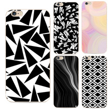 Popular Simple Art Grid Eyes Black and White Soft TPU Case For iphone 6 6S 6PLUS 6S PLUS 5 5S 4 4S 7 7PLUS Samsung Galaxy S6 S7