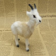 small cute creative simulation goat toy lovely handicraft goat doll gift about 12x12cm