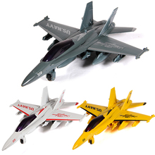 Alloy light acousto-optic pull back F-18 hornet fighter aircraft model toy Children's Day Christmas New Year gift collection(China)