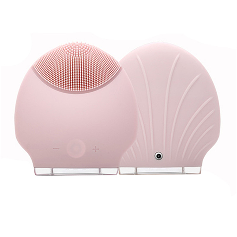 Hot Electric Face Cleanser Vibrate Pore Clean Waterpoof Silicone Gel Cleansing Brush Massager Facial Vibration Skin Care Brush 18