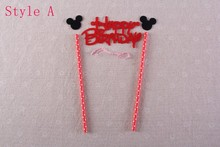 Mickey Minnie Mouse Cake Topper Set for Kids Happy Birthday Party Decoration Supplies Baby Shower Party Decoration