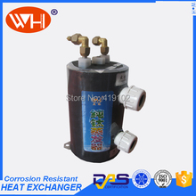 Cooling System liquid to liquid heat exchanger, titanium aquarium evaporator,heat exchange for salt water aquariums