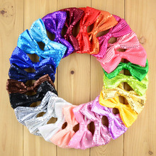 50pcs/lot 24 Color U Pick 4.3 Inch Large Classical Sequin Bow Knot Applique Embroidered Boutique Garment Hair Accessories HDJ24