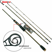 SHUNMIER 2.1m 2.4m Spinning Fishing Rods 4 Section ML M 99% Carbon Fishing Pole Rod With MICROWAVE Guide Pesca Tackle Peche Olta