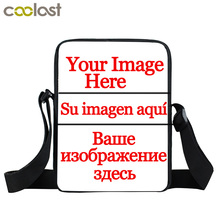 Custom Your Image Name Logo Mini Messenger Bag Boys Girls Personalized Crossbody Bag Kids Cartoon Shoulder Bags Best Gift Bags