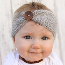 Headband Bebe girls Turban Head Wrap kids newborn hair band wool knitted winter autumn turban headwear Hair accessories New Hot(China)