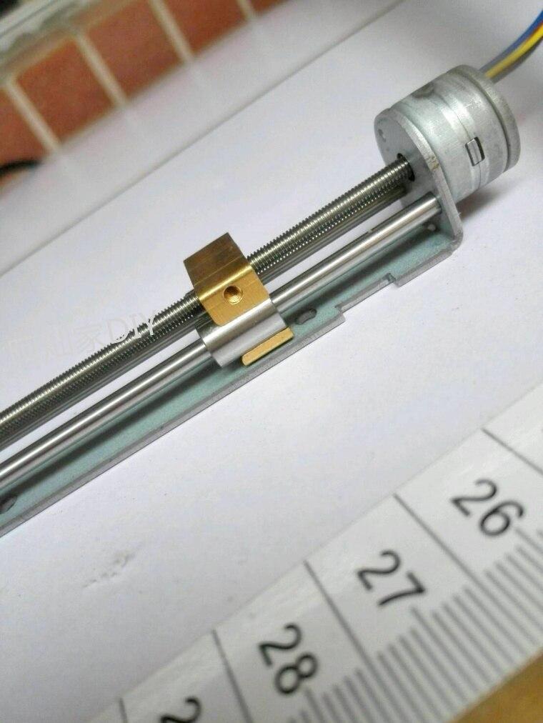 Miniature sliding table linear bearing stepper motor linear screw slider nut 15 motor DIY<br>