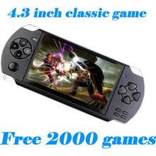 Free Shipping 4GB/8GB Video Game Console 4.3 inch MP4 MP5 Players Handheld Game Player free 2000+games ebook/FM/1.3 MP Camera