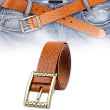 Italian imports men and women 's the first of layer leather belt ladies retro fashion decorative Cowhide belt serpentine belt