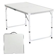 Portable Folding Ultralight Outdoor Table Height-Adjustable Plastic Table for Dining Picnic Camping BBQ Party Camping