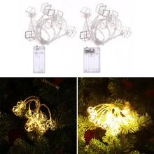 LED String Light Warm White Fairy Light Holiday Light For Party Christmas Wedding Decoration Battery Operated Polygon Box(China)