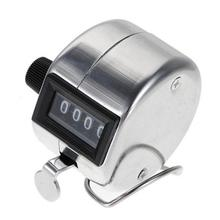 ACEHE Stainless Metal Mini Sport Lap Golf Handheld Manual 4 Digit Number Hand Tally Counter Clicker Silver
