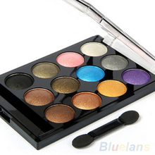12 Colors Professional Makeup Cosmetic Palette Shimmer Natural Eye Shadow Powder 5VYK 7H2Q 8W64