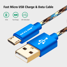 VOXLINK Micro USB Cables Fast Charging Power Bank Sync Data USB Cable for Samsung Galaxy S7 S6 S5 S4 S3 HTC Sony Huawei Xiaomi
