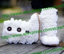 Free shipping,Handknit baby first walker shoes infant booties cotton yarn 0-12M custom,baby handmade crochet shoes
