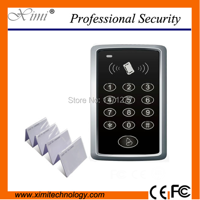 Single standalone 12V DC access control system 10pcs RFID card door independent password card F007 card access control